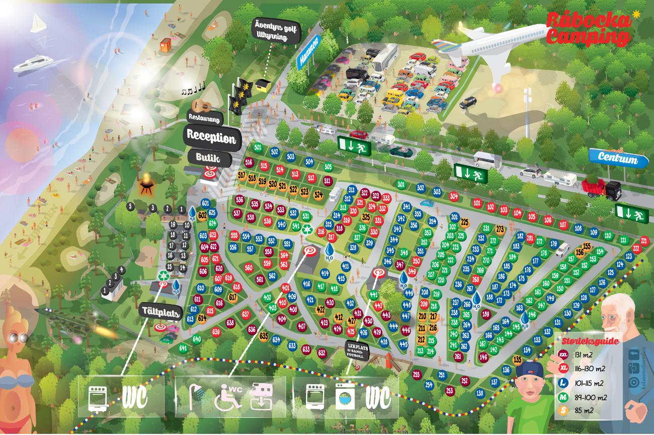 Karta Camping Skane.Campingplatsen Rabocka Camping